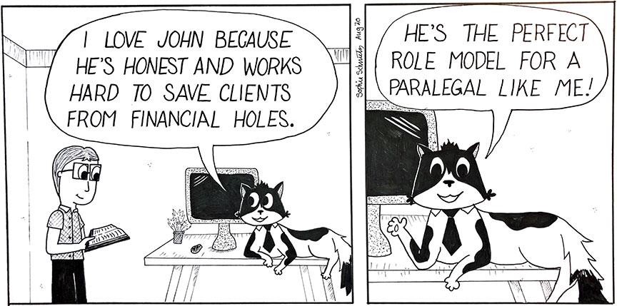 Seb and John Cartoon