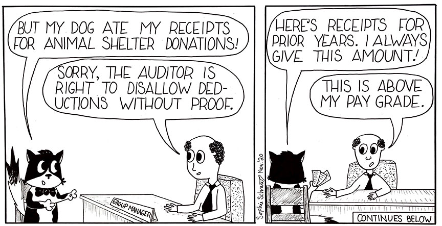 Sebastian The Feline Paralegal Tax Comic