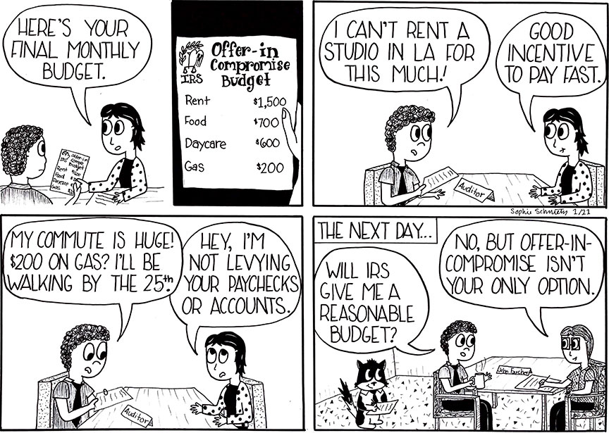 Seb Cartoon OIC Budget
